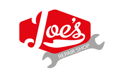 Joe's Repair Shop Logo Graphic